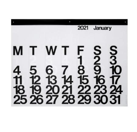 Stendig Calendar 2021 - Black