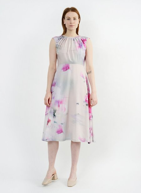 Meg Floral Whitson Dress - Watercolor