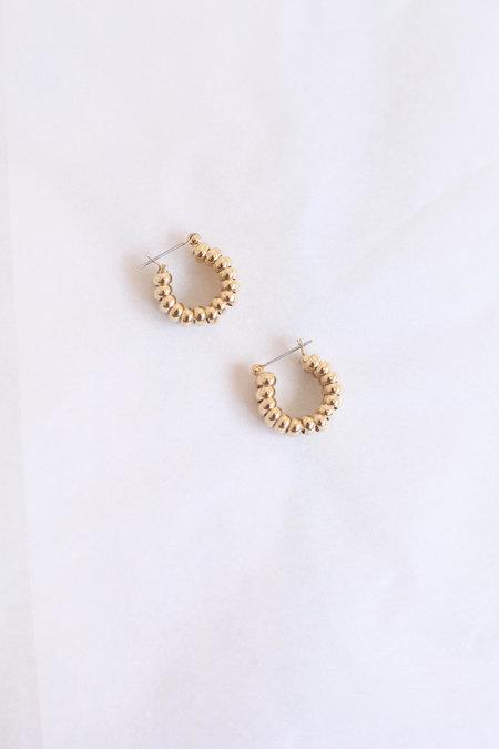 LAURA LOMBARDI Mini Camilla Earrings - Gold Plated
