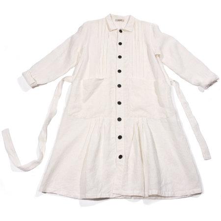 Ichi Antiquités Japan Linen Coat - White