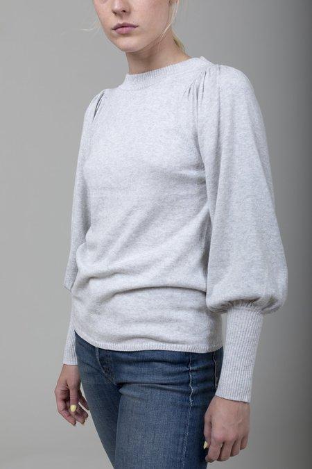 Apiece Apart Dewi Puff Sleeve Sweater - Grey