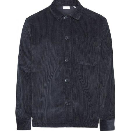 Knowledge Cotton Apparel 8 Wales Corduroy Overshirt - Navy