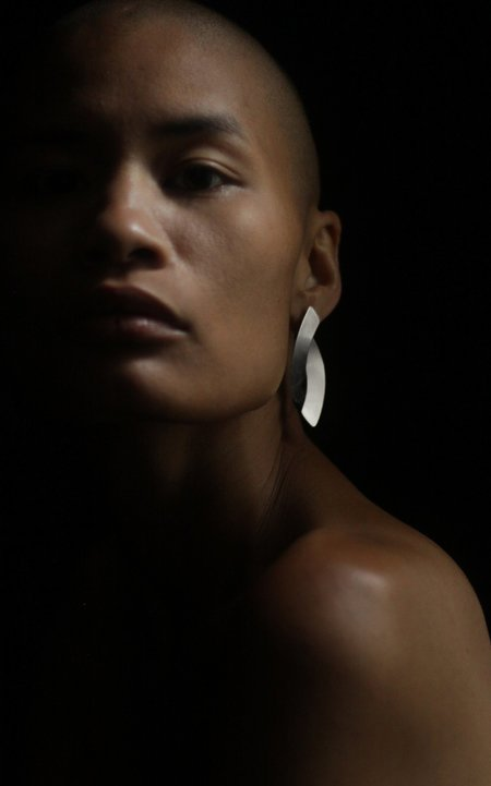 Fay Andrada Naru SM Earrings - Silver/Silver