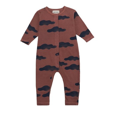 Bobo Choses Clouds All Over Overall - Red