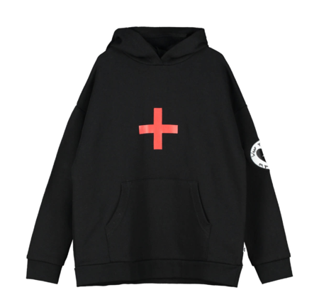 Kids Beau Loves Cross Hoodie - Black