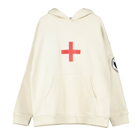 Kids Beau Loves Cross Hoodie - Cream