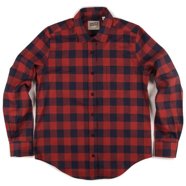 Naked & Famous Boyfriend Shirt - Real Indigo/Red Plaid