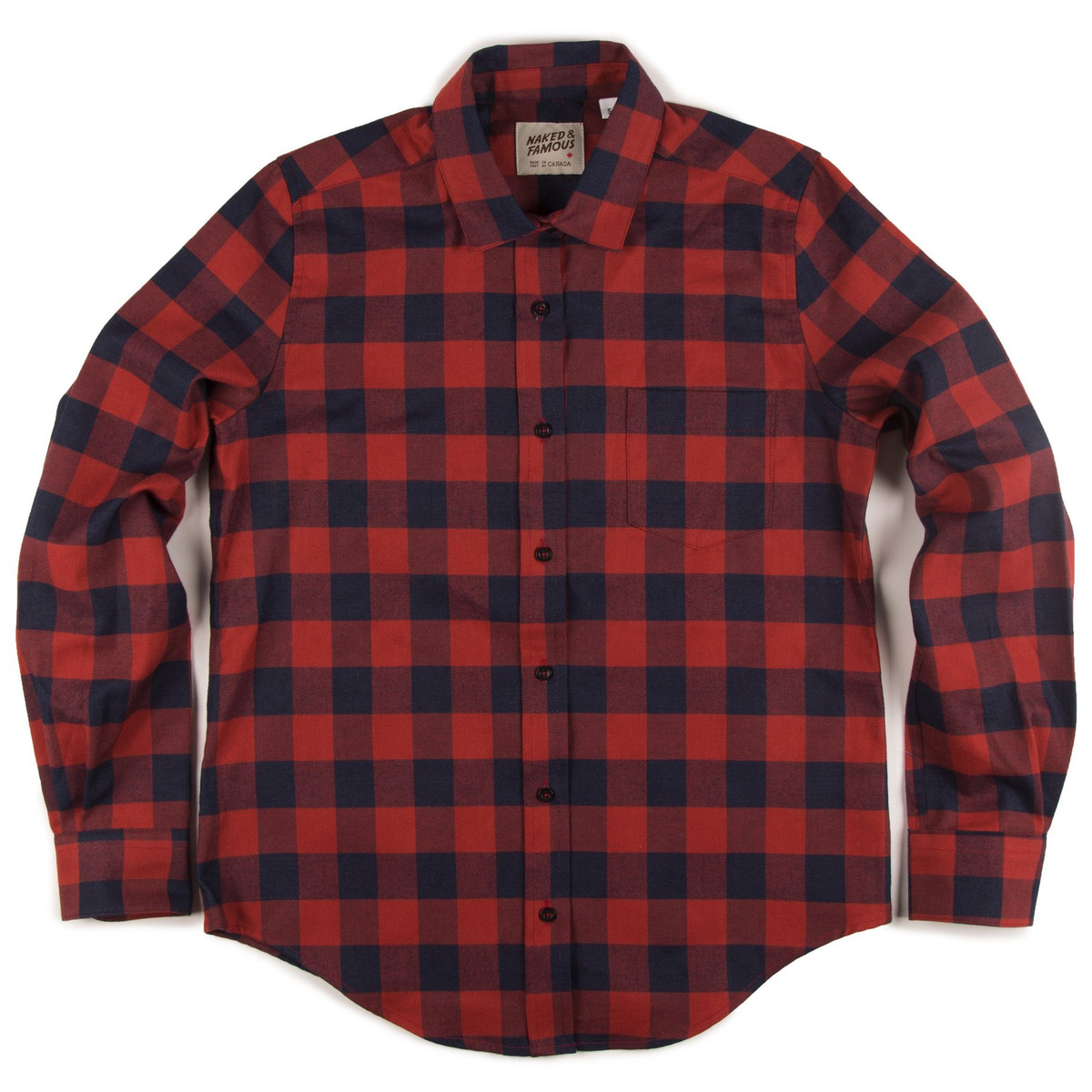 Naked Famous Boyfriend Shirt Real Indigored Plaid Garmentory