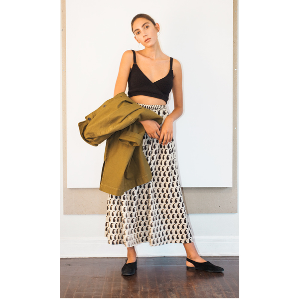 Monsoon Block-Printed Skirt-S