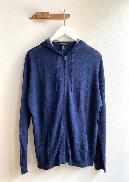 Autumn Cashmere Full Zip Hoodie - Navy Nite