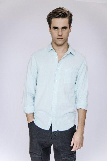 Kato Cotton Gauze Shirt - Sky Blue