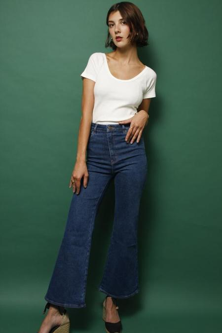 Rollas Eastcoast Crop Flare Jeans - Bayside Blue