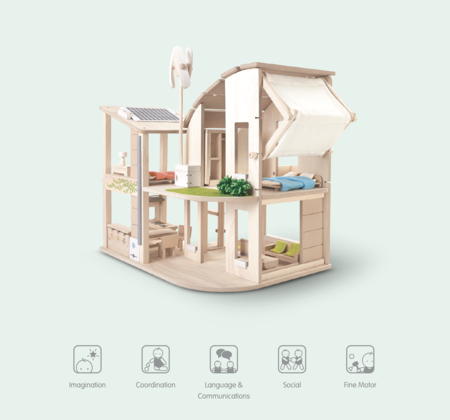 Kids Plan Toys Green Dollhouse