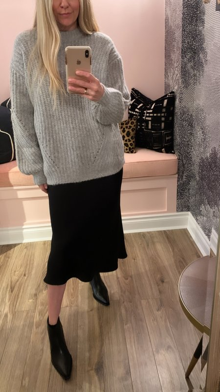 Anine Bing Jolie Crew Neck Sweater - Heathered Grey