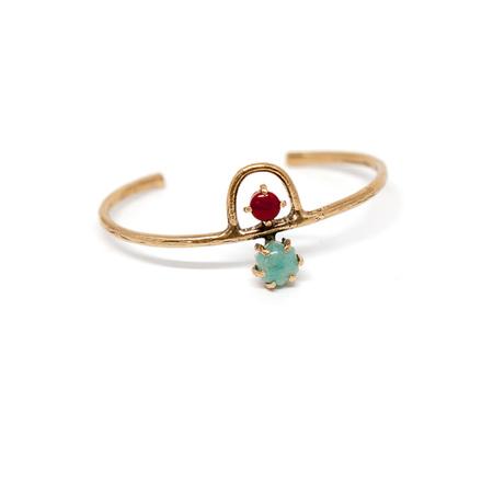Laurel Hill Jewelry Arche Cuff // Amazonite & Red Jasper
