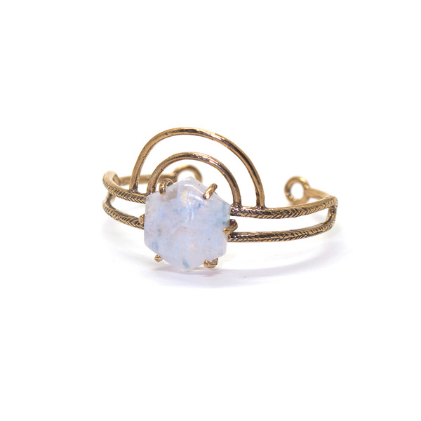 Laurel Hill Jewelry Dreamweaver Cuff // Moonstone