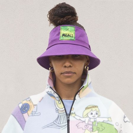 Meals Topless Bucket Hat - Grape