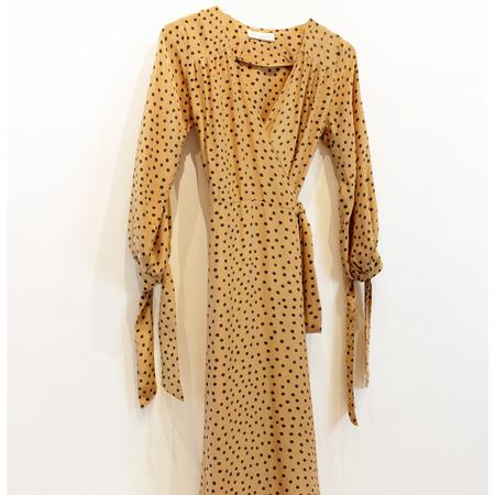 Natalie Martin Collection Danika Dress - Polka Dot Tan