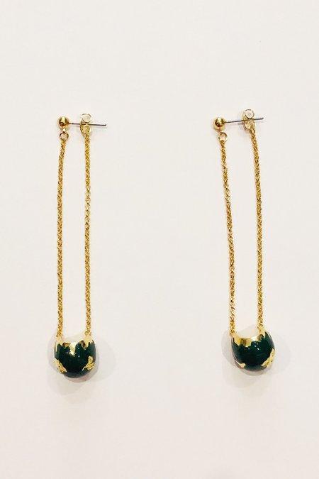 Rachel Comey En Am El Burgee Earrings - Gold/Green