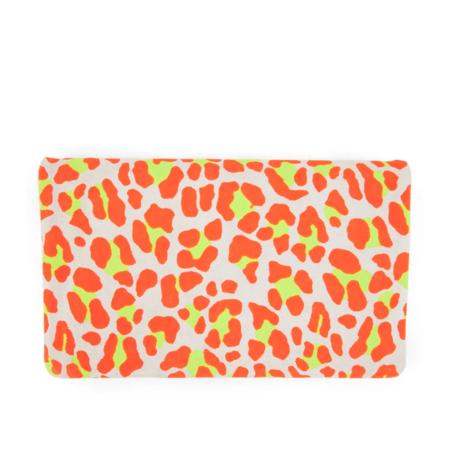 Clare V. Fold Over Clutch - Neon Orange/Cat Suede