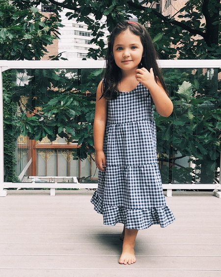Kids Petit Mioche Organic Maxi Picknick Dress