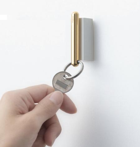 Timbre Marubo Key Ring & Holder - Gold
