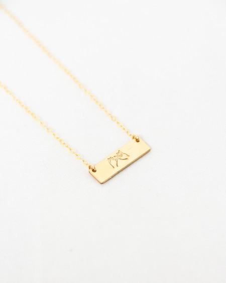 Amara Blue Designs Pinky Swear Bar Necklace - Gold Fill