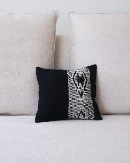 VOZ Diagonal Square Pillow - Black/Ivory