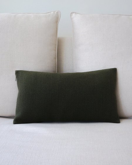 VOZ Solid Lumbar Pillow - Forest Green
