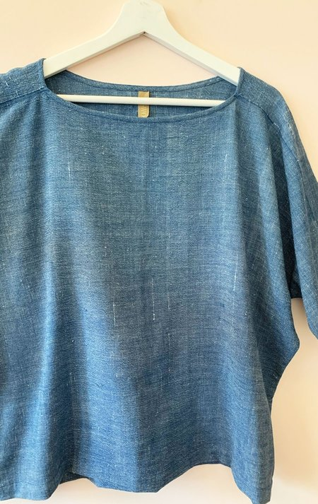 Two Boatneck Top - Indigo Blue