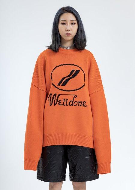 WE11DONE Jacquard Sweater - Orange