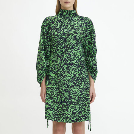 RODEBJER Elure Dress - Emerald Green/Swirl Print