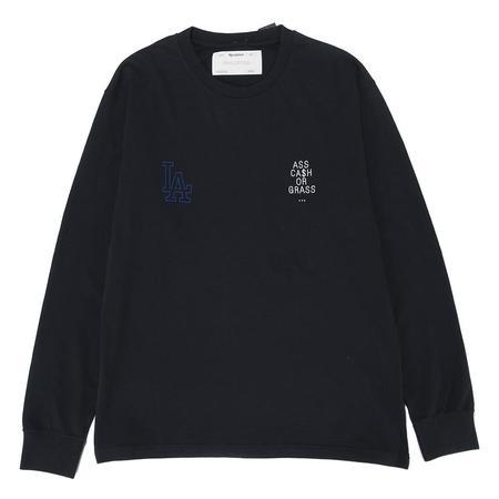 Reception Nobody Long Sleeve T-shirt - Dark Navy