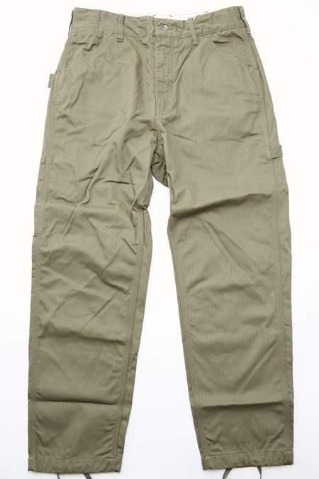 Engineered Garments Cotton Herringbone Twill Painter Pant - Olive