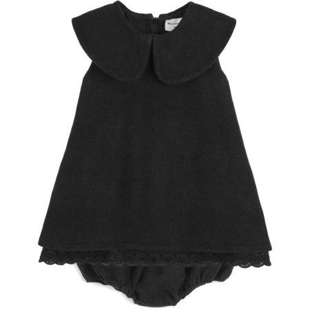 Kids Wolf & Rita Beatriz Baby Denim Dress - Black