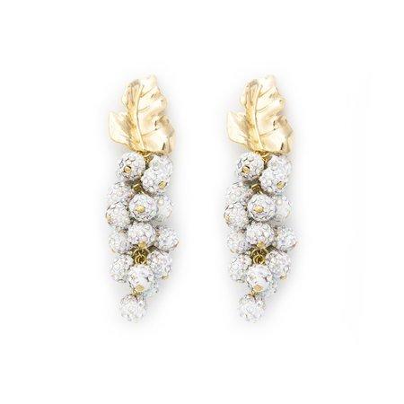 Pakera Pakera Grape Earring - White