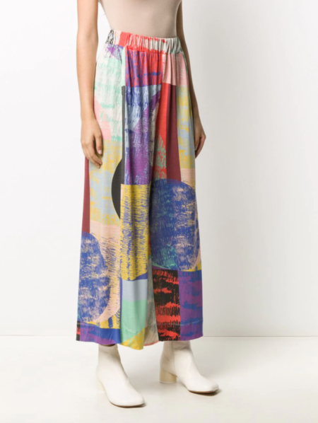 Henrik Vibskov Wide-leg Trousers - Blurry Lights Print