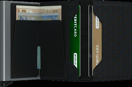 SECRID Slim Wallet - Black/Titanium