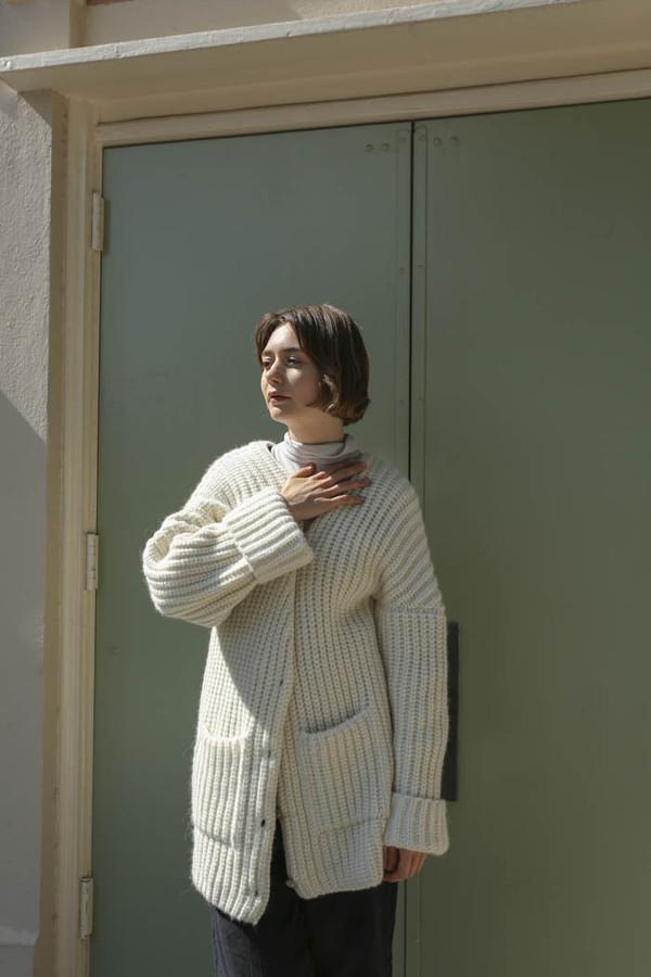 Delfina Balda Verita Cardigan in Off-White