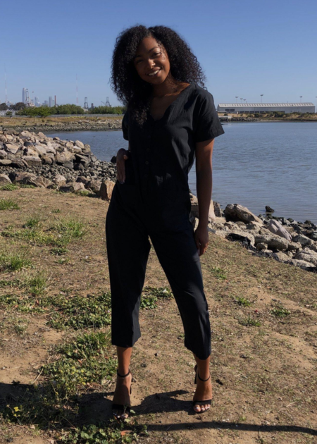 Happy French Gang Short sleeve jumpsuit - black