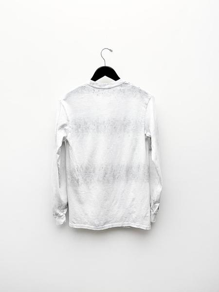 Unisex Audrey Louise Reynolds Long Sleeve Shirt - White/Charcoal Recycle Tie Dye
