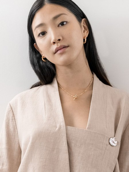 Hana kim Mesh Necklace - 18k GOLD plated