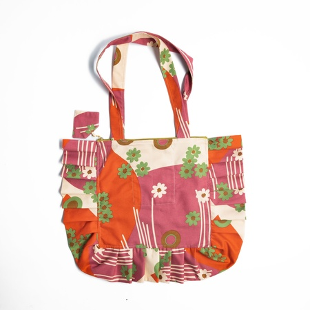 Miss KK Ruffle Bag - Floral Deco Print