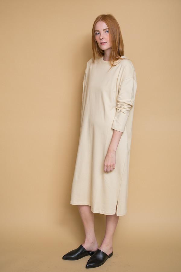 Revisited Matters T-Shirt Sweater Dress - Cream