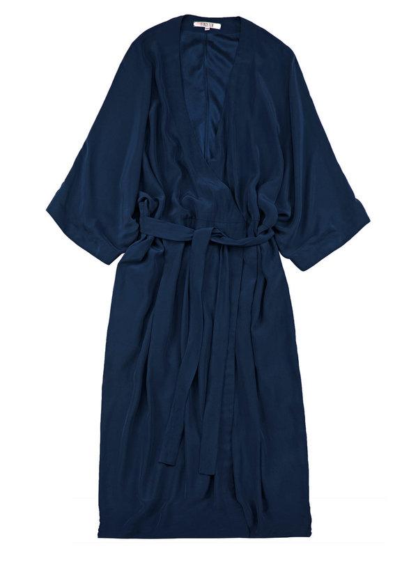 Vincetta Navy Knee Length Kimono Dress