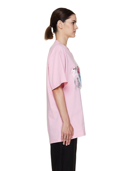 Doublet Embroidered Cotton T Shirt - Pink