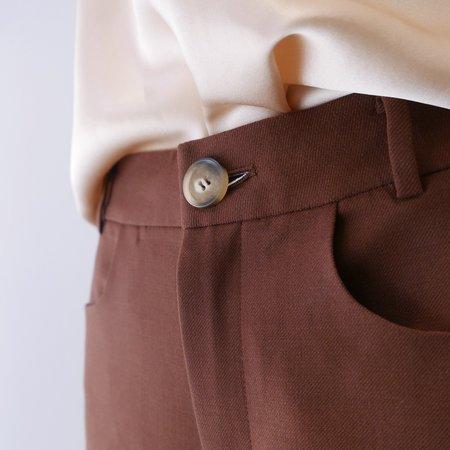 Unisex Rejina Pyo Eliott Straight Trousers - Brown