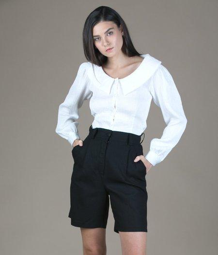Tach Clothing Linen Bermuda Shorts - Black