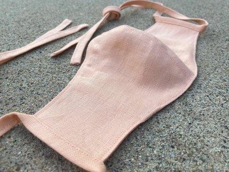 Tony Shirtmakers Italian Linen Face Mask - Coral