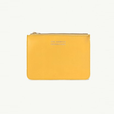 Kids The Animals Observatory Leather Purse - Yellow
